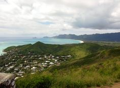 View of Bellows Beach from the Lanikai pillbox trail