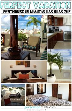 This penthouse 2 bedrooms condo is perfectly located 200 meters from mamita\'s beach will offer you everything you need for a perfect vacation downtown Playa del carmen a few step from the quinta and can sleep 5 persons Charcoal Bbq, Dvd Vcr, Jacuzzi, Dryer, Washer, Closets, Wifi, Kitchen Cabinets, Appliances