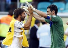 World class: Buffon and Pirlo