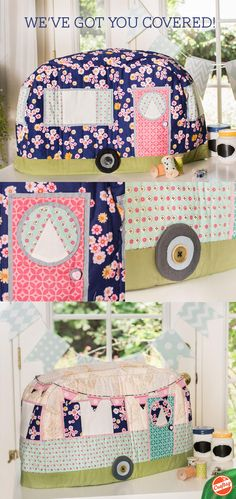 Reward your sewing machine for all the adventures it's taken you on! The Rainbow Hare Vintage Caravan Sewing Machine Cover Kit includes a pattern and charming fabric from Dan Morris' Home Sweet Home collection.