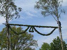 Pfingstbaumpflanzen ~ Birch Wreath Day ~ Pentacost ~ Trinity ~ Germany https://de.wikipedia.org/wiki/Pfingstbaumpflanzen