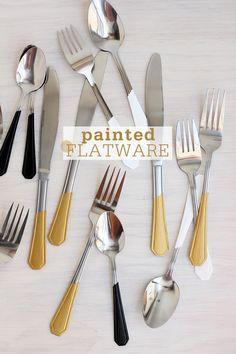 Painted Flatware DIY