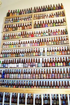 BrewPalace.com: Bottle Collection Pictures, I need this shelving to take up an entire wall so I can show off my collection