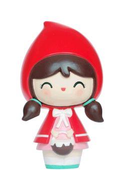 Little Red Riding Hood Set Volume 1 Momiji Doll, Kokeshi Dolls, Game Character, Character Design, Wood Peg Dolls, Felt Finger Puppets, Video Game Anime, Kawaii Doll, Monster High Repaint