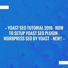 Yoast Seo Tutorial 2016 - How To Setup Yoast SEO Plugin - Wordpress SEO By Yoast  - NEW!! http://onlineenvy.blogspot.com/2016/12/yoast-seo-tutorial-2016-how-to-setup.html?utm_campaign=crowdfire&utm_content=crowdfire&utm_medium=social&utm_source=pinterest