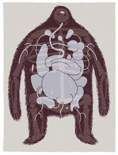 Tom Gauld - the hairy monster