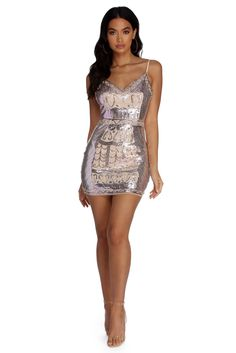 7333ad2b5375 Nude Lace Glitter Floral Square Neck Bodycon Dress | Nude out in ...