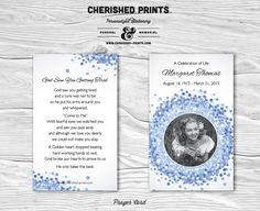 Forget-Me-Not Prayer Card for Memorials by CherishedPrints