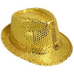 Sequin Fedora: Gold Image Angel band hats