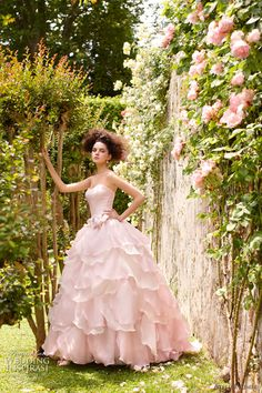 atelier aimee pink wedding dress. So soft and romatic. Perfect for an english garden wedding!