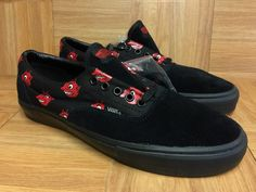 47ca9d9ea9 RARE VANS Era S WTAPS Devils Black Red Sz 10 Men s Skateboarding Shoes Le  Vntg for sale online