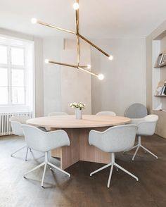 We can't get enough of these customized FIBER chairs @kinfolk 's Copenhagen office #muuto #muutodesign #kinfolk #ouur #fiberchair #design #interior #copenhagen #københavn