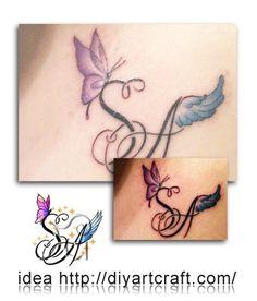 #monogram SA #custom #tattoo