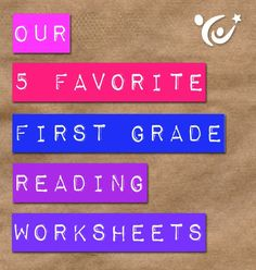 Click for our top FREE reading worksheets for first graders!
