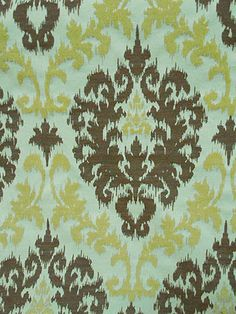 CASABLANCA LEMON CHIFFON #blue-turquoise #brown-earth-tones #green #ikat #woven-fabrics