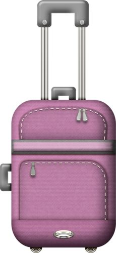 Tripping Out - Purple luggage