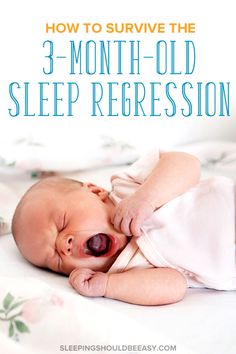 The 3 month old sleep regression can be challenging. Get practical solutions and tips that will explain what a sleep regression is, signs your child is going through one, and exactly what to do to help get your baby back on track quickly. #sleepregression #3monthold #sleeptips #babysleep