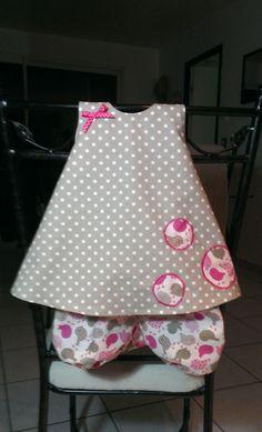 (Stella) robe trapèze et bloomer 6 mois