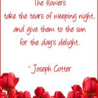 Flowers Take Tears - beautiful poem, more found on a wonderful website where you can print them for free! freeprintable.com!