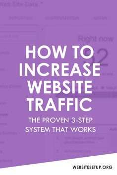 How To Increase Website Traffic - Here's a proven 3-step system that WORKS. Click the PIN to learn now.