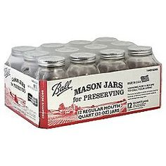 KMart sells mason jars for .80 a piece. And free shipping? Thank you.