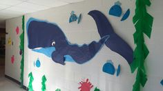 Dive into Reading!! Blue Whale helped transform the school to an underwater ocean