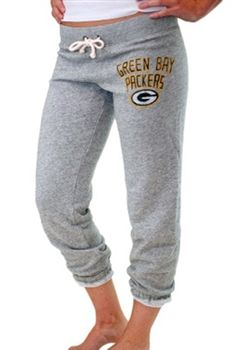 Green Bay Packers Womens Sweat Pants French Terry Junk Food   SportyThreads.com