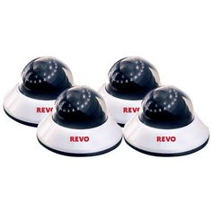 Sale - Indoor Dome #Surveillance #Camera (4-Pack)- 600TVL 80Ft Night Vision Built in Microphone Fixed lens - Home Security Camera #System by Revo America  Full review at: http://toptenmusthave.com/best-home-surveillance-camera/