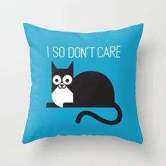 Fur Real pillow covers by David Olenick #homedecor #cats #pillows
