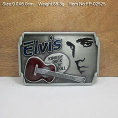 Elvis Presley King Of Rock&Roll Cowboys Cowgirls Metal Belt Buckle Texas Fashion Mens Western Badge Feathers Native $23.99   #ootd #fashionista #cool #model #glam #style #iwant #swag #stylish #streetstyle #love #pretty #shopping #sweet #instafashion