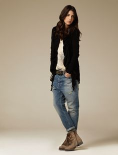 //black + jeans //(Alpine Boot)