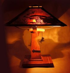 Pinocchio Craftsman Style Lamp Prototype Designed by Jody Daily & Kevin Kidney Craftsman Lamps, Craftsman Style, Disney Lamp, Disney Rooms, Disney House, Disney Stained Glass, Disney Home Decor, Tiffany Lamps, Glass Shades
