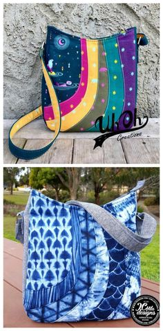 Crossbody bag sewing pattern. Scrap friendly pattern where you can mix and  match colors or f890f8d651