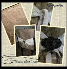 Burlap Chair Cover