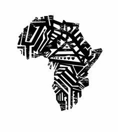 Africa Block Print