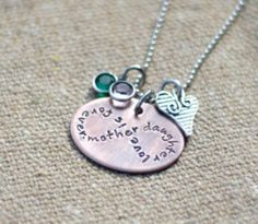 Rustic Mother Daughter Infinity Necklace