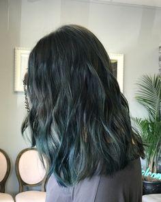 Dark blue black navy hair