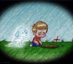 This must be one of my most favourite images, the loss of a pet can be heartbreaking, this image shows they will always be with you in this life, until you meet again.