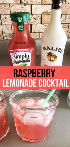 most refreshing Raspberry Lemonade Cocktail that is only 2 ingredients! Can sub Light Simply Raspberry Lemonade.The most refreshing Raspberry Lemonade Cocktail that is only 2 ingredients! Can sub Light Simply Raspberry Lemonade. Lemonade Cocktail, Raspberry Lemonade, Cocktail Drinks, Raspberry Cocktail, Simple Cocktail Recipes, Vodka Lemonade Drinks, Easy To Make Cocktails, Pink Lemonade, Liquor Drinks