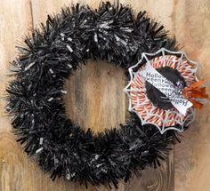 So Shelli - So Shelli Blog - Sara's Convention Projects - Halloween Wreath Kit alternative