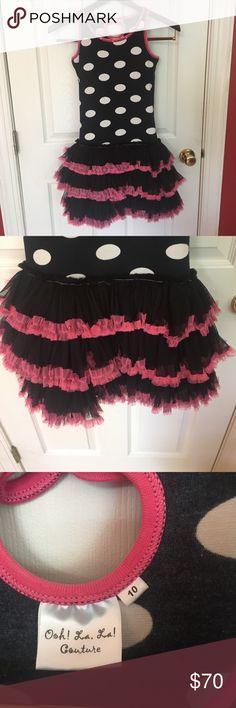 Girls boutique dress Ooh! la, La! Boutique dress. Layers of soft beautiful tulle! Size 10, purchased at Neiman Marcus- worn once!!! ooh la la Dresses Midi