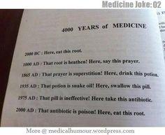 4000 Years of Medicine. #joke #funny #medicinejoke