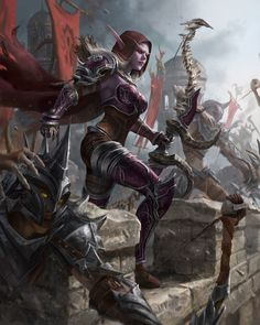 World of Warcraft Art — Sylvanas Windrunner( The Battle for Lordaeron) [. Fantasy Warrior, Fantasy Girl, Dark Fantasy, Final Fantasy, Elves Fantasy, World Of Warcraft Characters, Fantasy Characters, Fictional Characters, World Of Warcraft Wallpaper