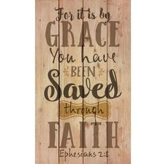 Christian Wall Art - It is By Grace-Saved!