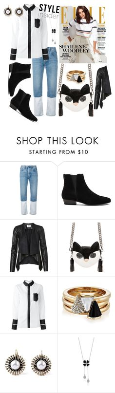 """""""Style Insider: The Black & White of it All!!!"""" by mdfletch ❤ liked on Polyvore featuring Ports 1961, Étoile Isabel Marant, MSGM, Maison Margiela, Brixton and styleinsider"""