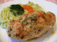 Kuřecí roládky No Salt Recipes, Chicken Recipes, Dessert Recipes, Desserts, Pork, Menu, Drink, Essen, Postres