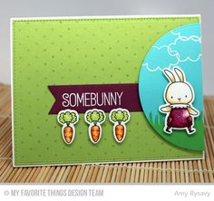 Somebunny stamp set and Die-namics, Swiss Dots Background, Circle STAX Set 1 Die-namics, Fishtail Flags Layers STAX Die-namics, Grassy Edges Die-namics - Amy Rysavy #mftstamps