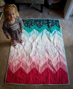 Chevron ombre quilt I would go all pink!