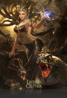 Artist: Atents - Title: 02legendch - Card: Bordello Queen Lamia (Tantalyzing)