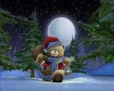 Forever Friends Santa Bear...a special greeting!